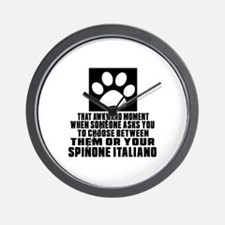 Spinone Italiano Awkward Dog Designs Wall Clock