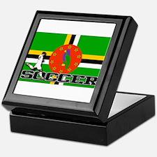 Dominica Flag Soccer Keepsake Box