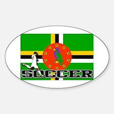 Dominica Flag Soccer Oval Decal
