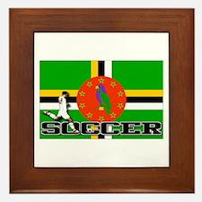 Dominica Flag Soccer Framed Tile