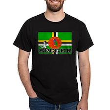 Dominica Flag Soccer T-Shirt