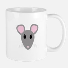 sweet gray mouse face Mugs
