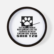 Shih Tzu Awkward Dog Designs Wall Clock