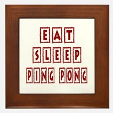 Eat Sleep Ping Pong Framed Tile