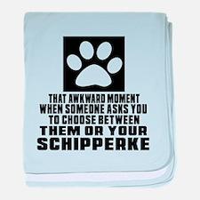 Schipperke Awkward Dog Designs baby blanket