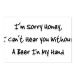 sorry honey Postcards (Package of 8)