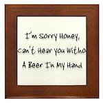sorry honey Framed Tile