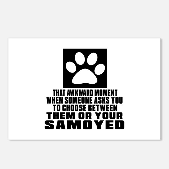Samoyed Awkward Dog Desig Postcards (Package of 8)