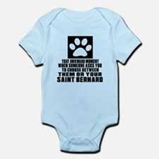 Saint Bernard Awkward Dog Designs Infant Bodysuit