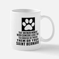 Saint Bernard Awkward Dog Designs Mug