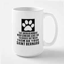 Saint Bernard Awkward Dog Designs Large Mug