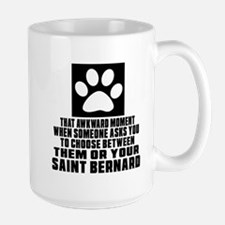 Saint Bernard Awkward Dog Designs Mug