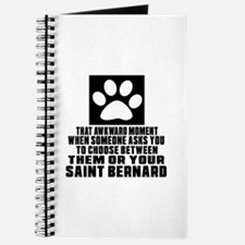 Saint Bernard Awkward Dog Designs Journal