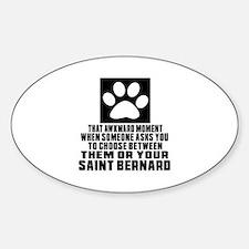 Saint Bernard Awkward Dog Designs Decal