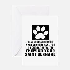 Saint Bernard Awkward Dog Designs Greeting Card