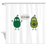 Avocado green Shower Curtains