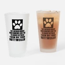 Rottweiler Awkward Dog Designs Drinking Glass