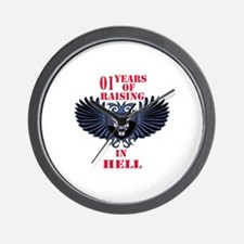 01 Year of Raising in hell Wall Clock