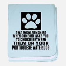 Portuguese Water Dog Awkward Dog Desi baby blanket