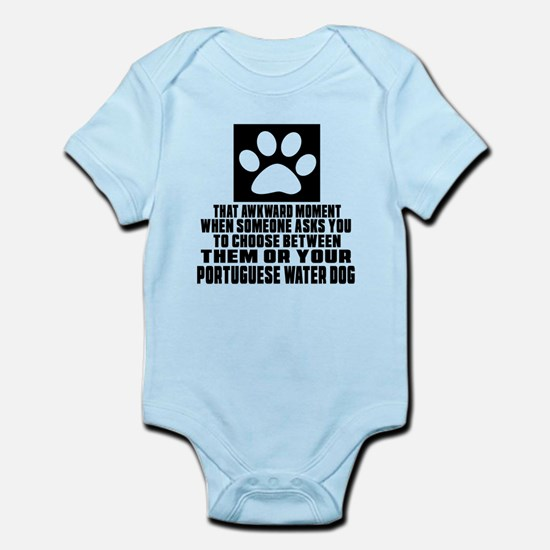 Portuguese Water Dog Awkward Dog D Infant Bodysuit
