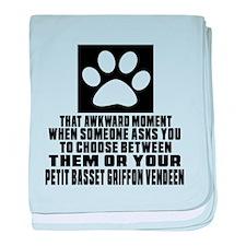 Petit Basset Griffon Vendeen Awkward baby blanket