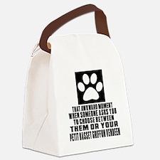 Petit Basset Griffon Vendeen Awkw Canvas Lunch Bag