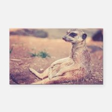 Funny Mongoose Rectangle Car Magnet