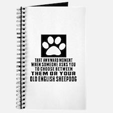 Old English Sheepdog Awkward Dog Designs Journal