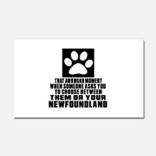 Newfoundland Awkward Dog Design Car Magnet 20 x 12