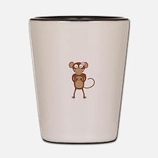 amorous female monkey with flower Shot Glass