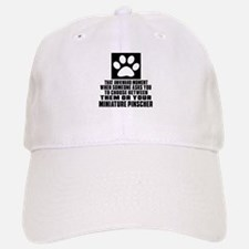 Miniature Pinscher Awkward Dog Designs Baseball Baseball Cap