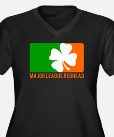 Major League Redhead Women's Plus Size V-Neck Dark