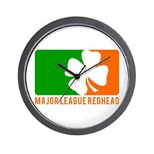 Major League Redhead Wall Clock