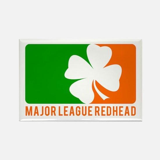 Major League Redhead Rectangle Magnet