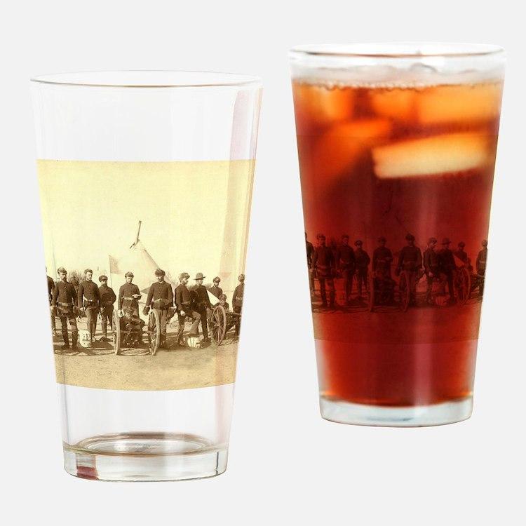 Cute Civil war soldier Drinking Glass