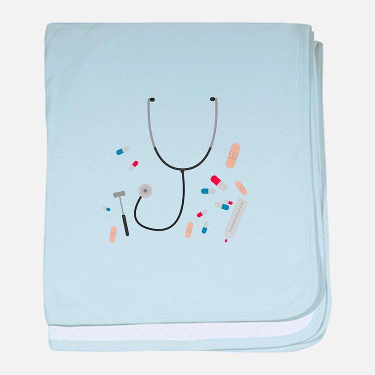 doctors equipment baby blanket