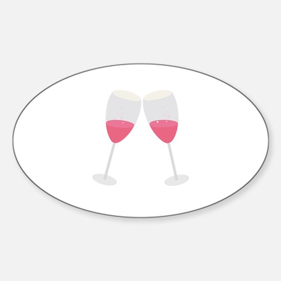 champagne glasses Decal