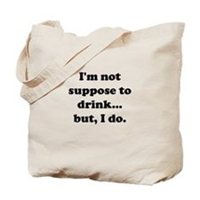Cute Swimming quotes Tote Bag