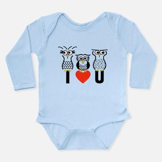 Unique Eule Long Sleeve Infant Bodysuit