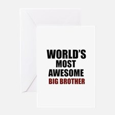 World's Most Awesome Big Brother Greeting Card
