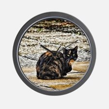 Tortoiseshell Cat Wall Clock
