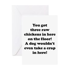 Cute Funny swim quote Greeting Card