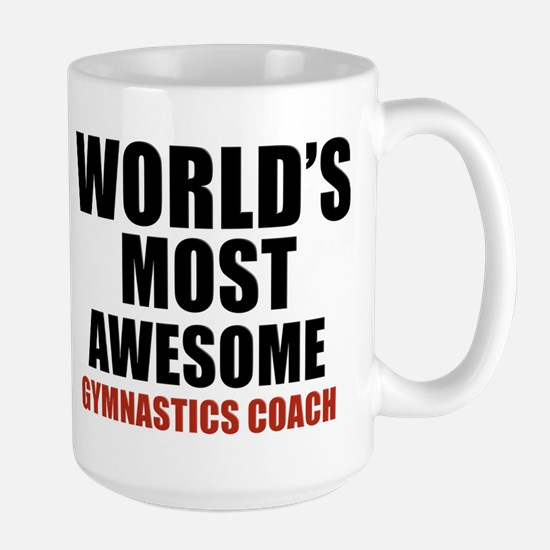 World's Most Awesome Gymnastics Coach Large Mug