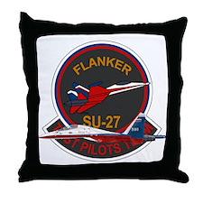 Su-30 Flanker Throw Pillow
