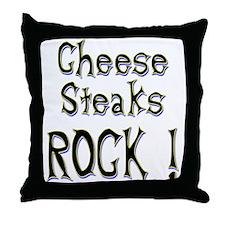 Cheese Steaks Rock ! Throw Pillow