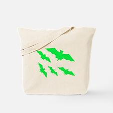 bats green Tote Bag