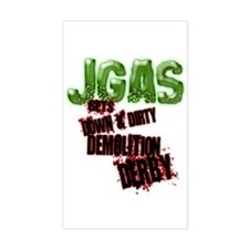 JGAS Demolition Derby! Rectangle Decal