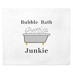 Bubble Bath Junkie King Duvet