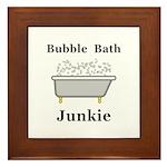 Bubble Bath Junkie Framed Tile