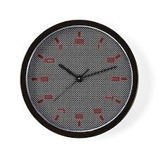 Porsche Carbon Fiber Wall Clock